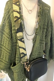 Ahdorned Camouflage Bag Strap Green - Front full body