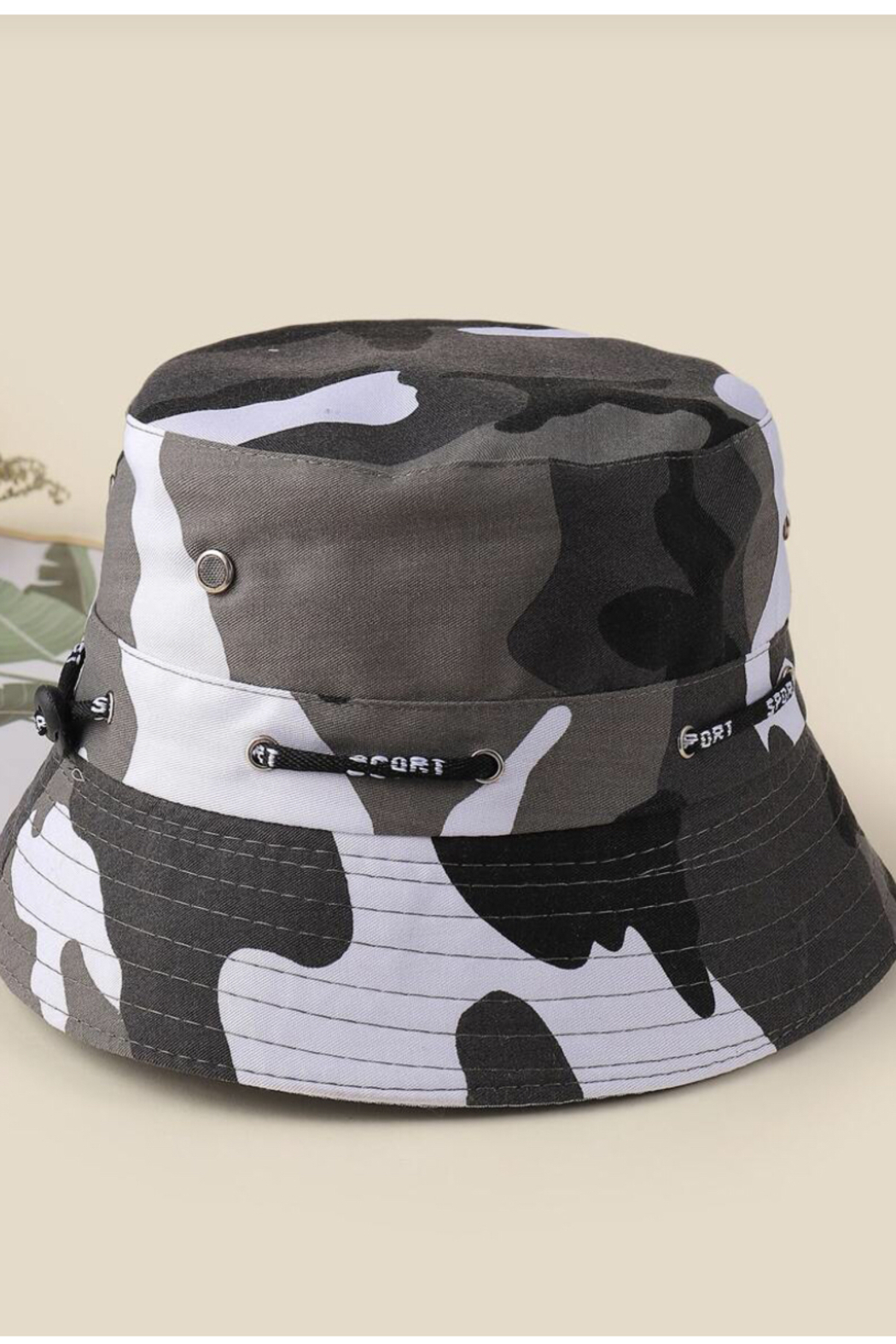 Coco International Camouflage Bucket Hat - Front Cropped Image