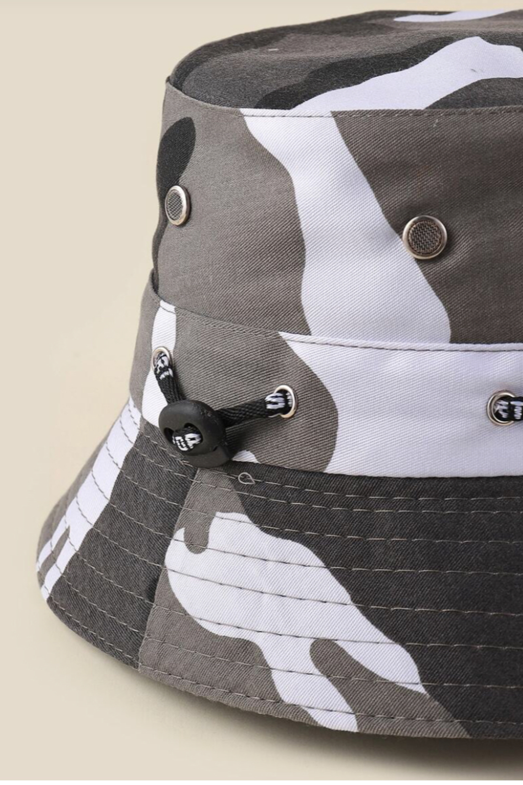 Coco International Camouflage Bucket Hat - Front Full Image