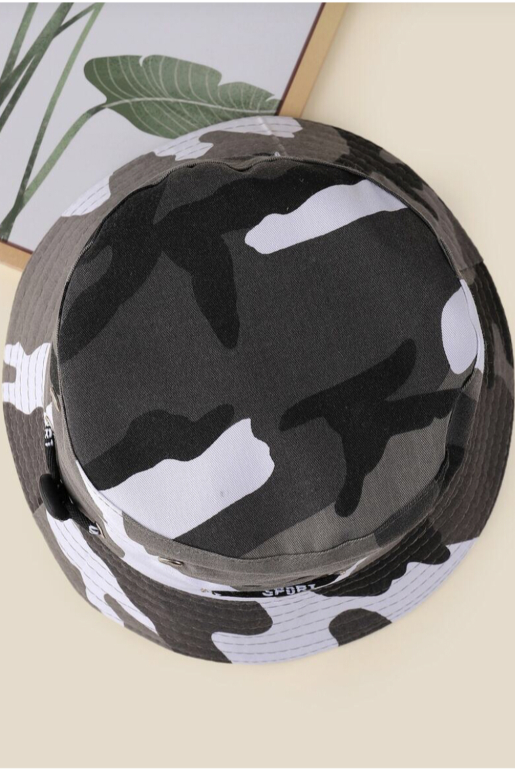 Coco International Camouflage Bucket Hat - Side Cropped Image