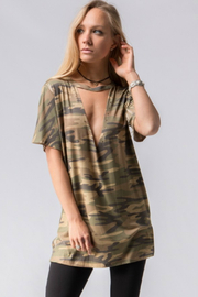 Fashionomics Camouflage Choker Tee - Product Mini Image