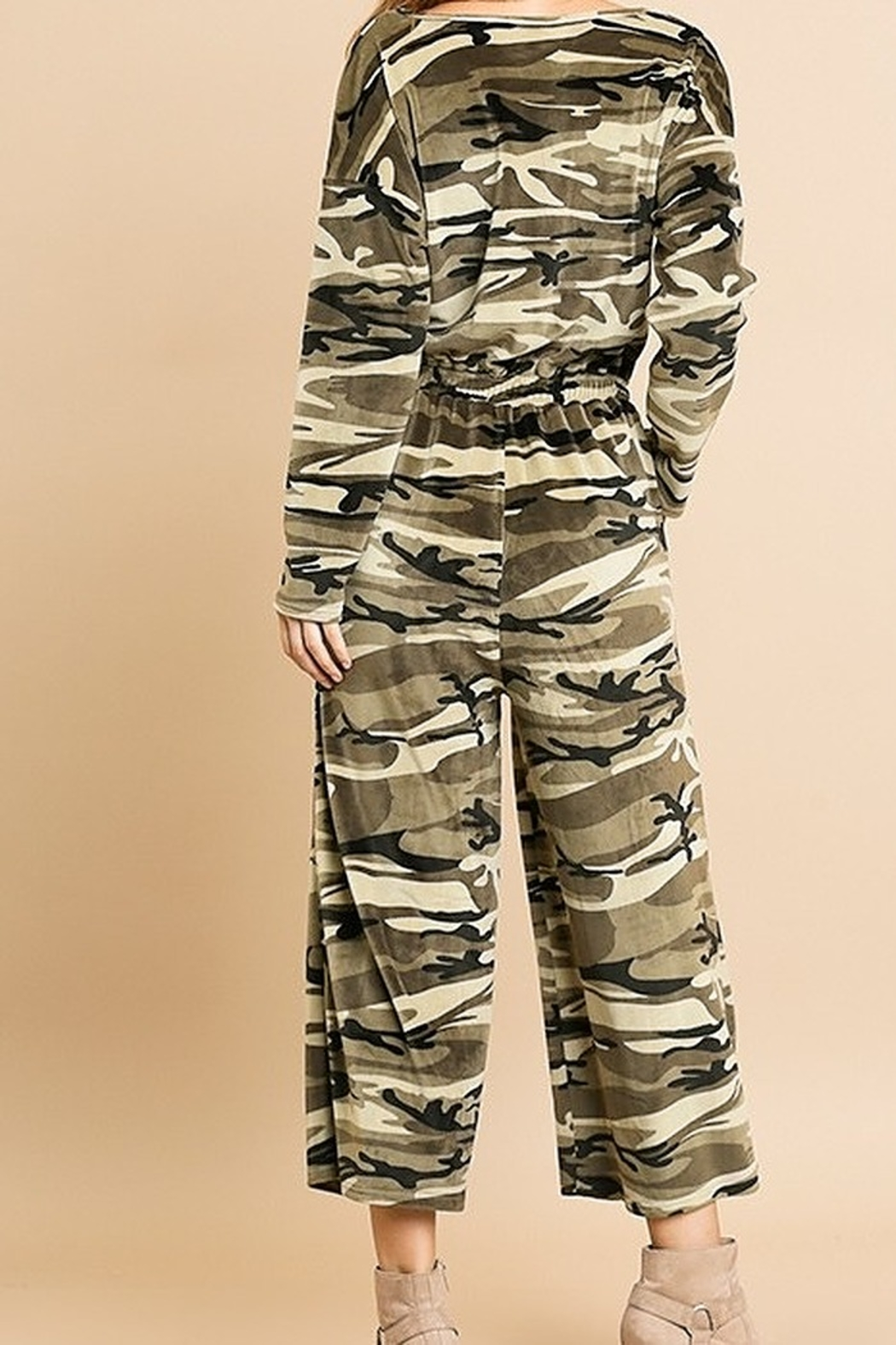 Umgee USA Camouflage Cozy Jumpsuit - Side Cropped Image