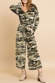 umgee  Camouflage Cozy Jumpsuit - Product Mini Image
