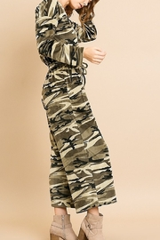 Umgee USA Camouflage Cozy Jumpsuit - Front full body