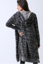 Electric Rose Camouflage Duster Hoodie - Front full body