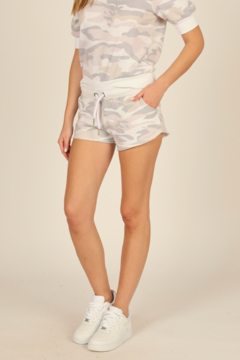 Vintage Havana  Camouflage French Terry Short - Product List Image