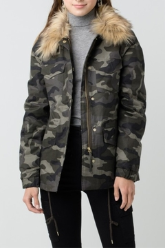 Love Tree  Camouflage Jacket with Detachable Fur - Product List Image