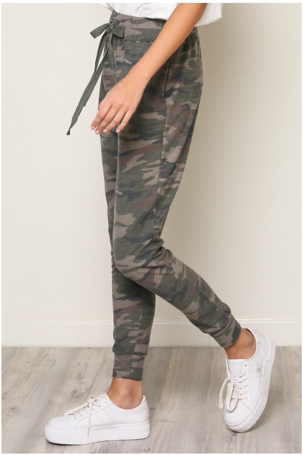 Mustard Seed  CAMOUFLAGE JERSEY JOGGER - Front Full Image