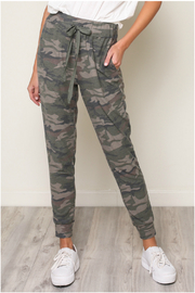 Mustard Seed  CAMOUFLAGE JERSEY JOGGER - Front cropped