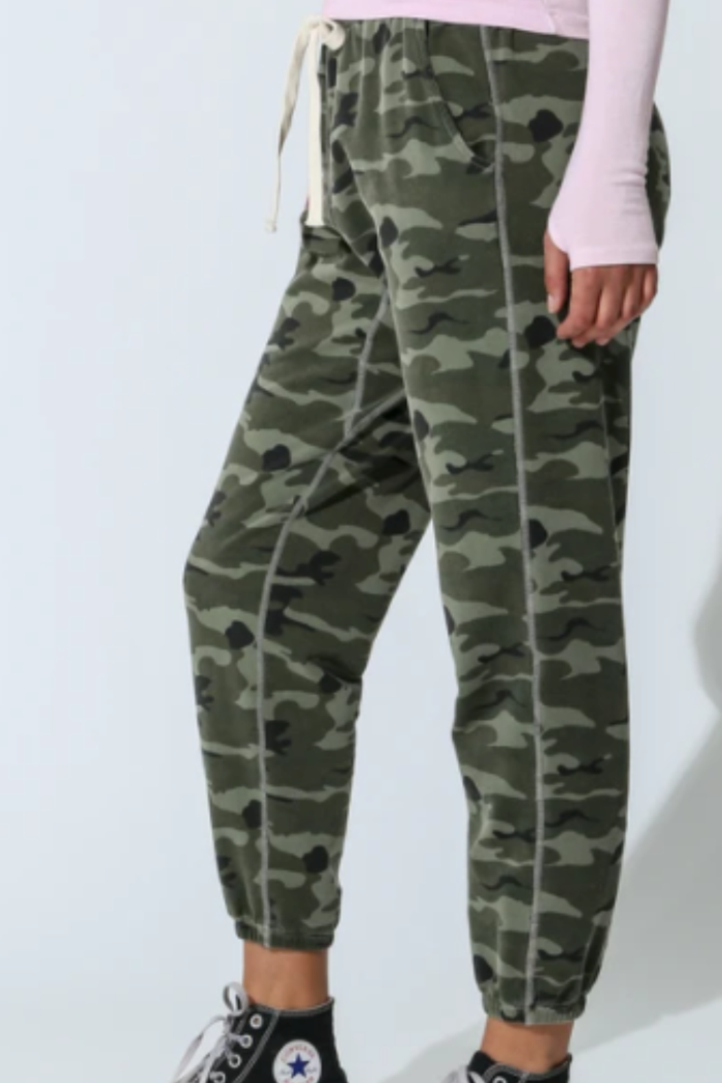 Electric & Rose camouflage jogger - Front Full Image