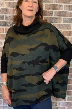 Patrizia Luca Camouflage Over Size Sweater - Product List Image