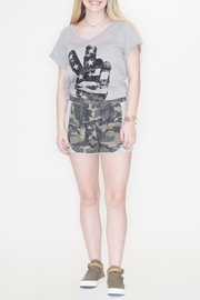 Fantastic Fawn Camouflage Print Shorts - Product Mini Image