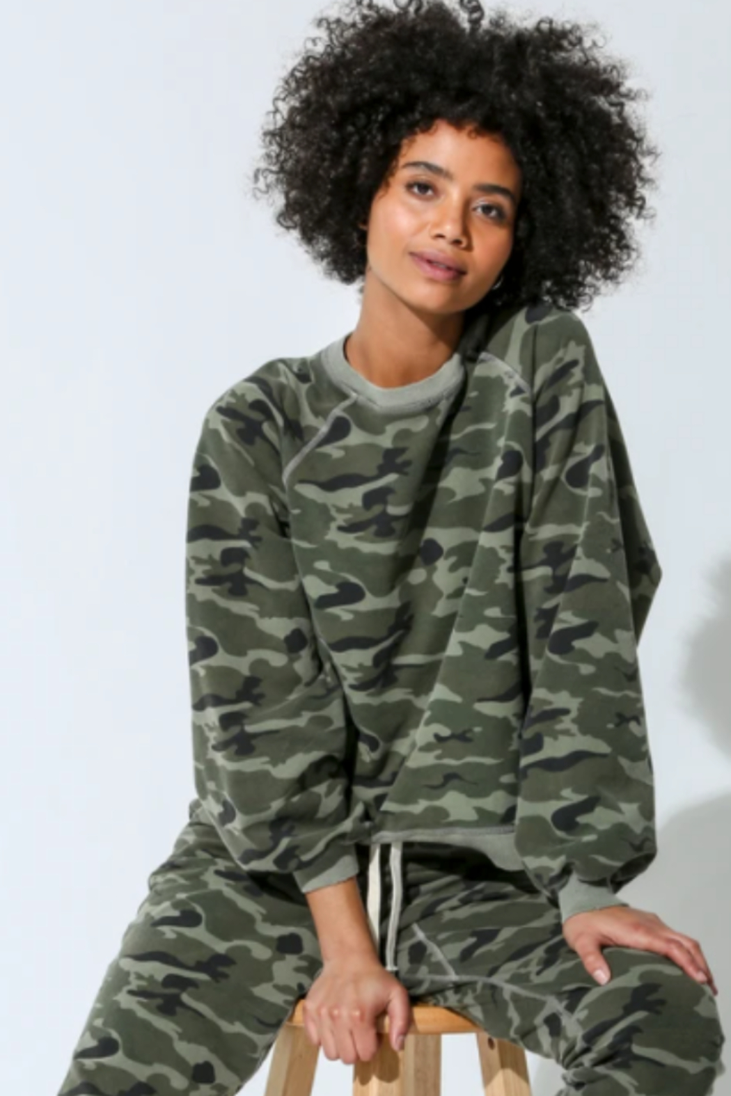 Electric & Rose camouflage pull over - Main Image