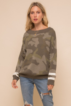 Shoptiques Product: Camouflage Pullover Sweater