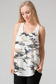 Fashionomics Camouflage Racer Back-Tank - Product Mini Image