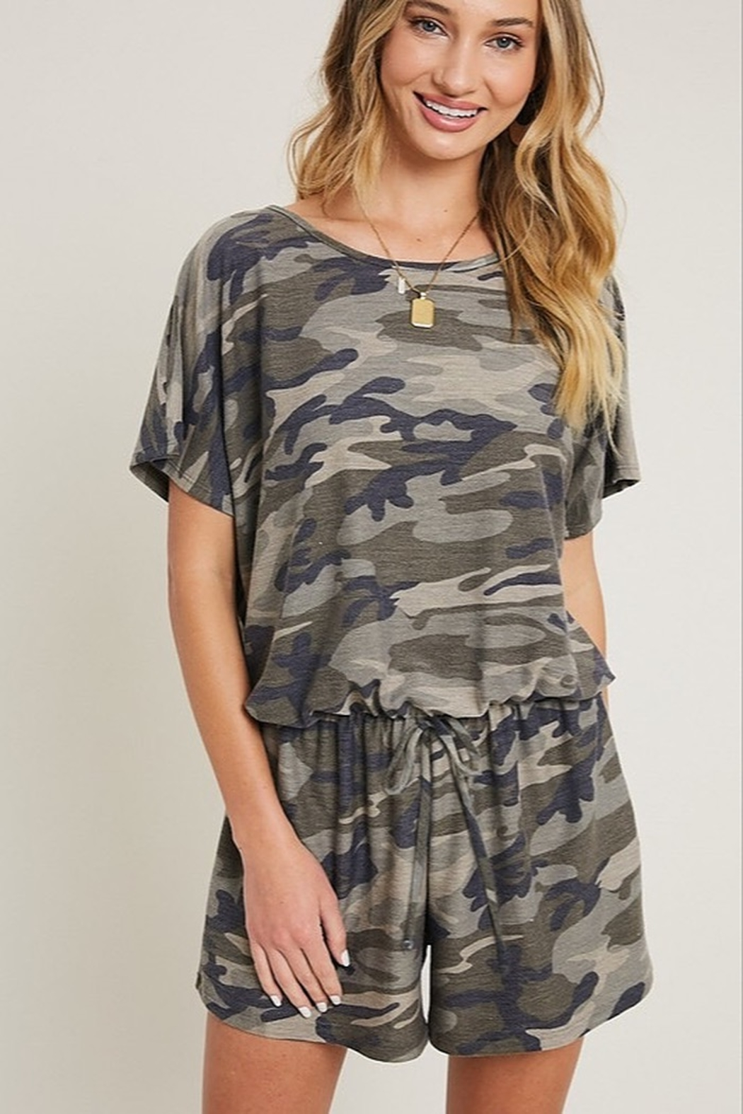 eesome Camouflage Romper - Main Image