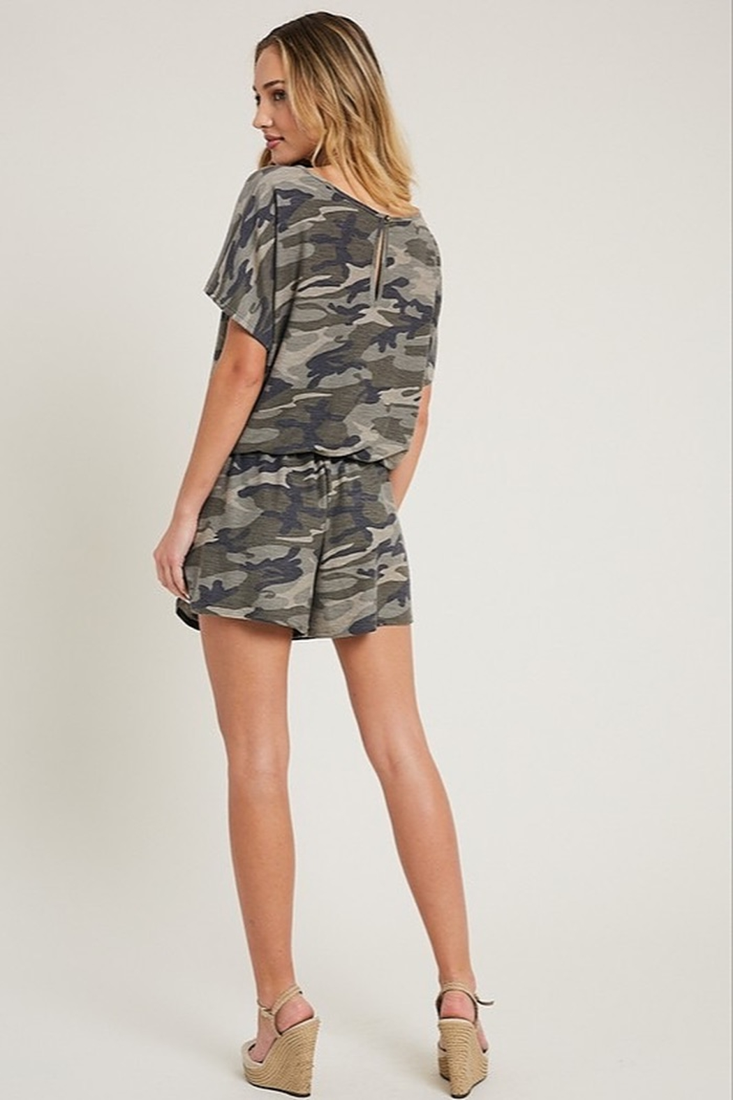eesome Camouflage Romper - Front Full Image