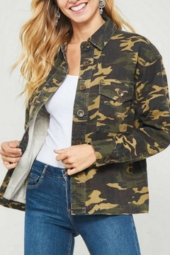 Shoptiques Product: Camouflage Shirt Jacket
