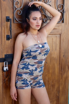 Minx Camouflage Strapless Romper - Product List Image