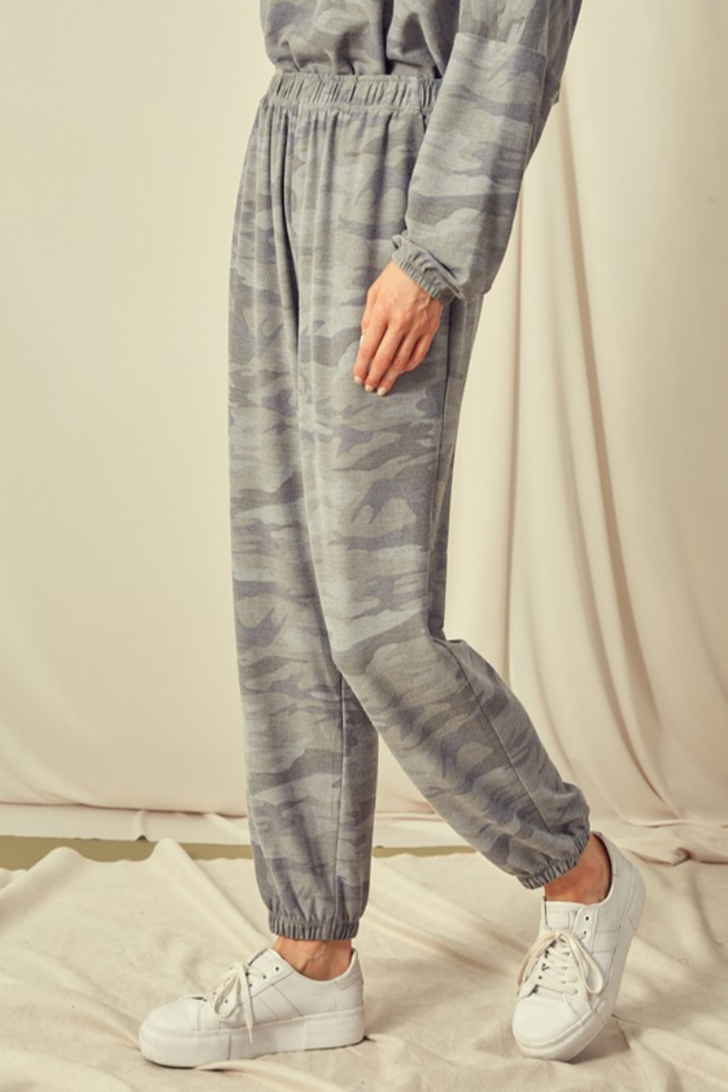 Mustard Seed  Camouflage Sweatpant Jogger - Front Full Image