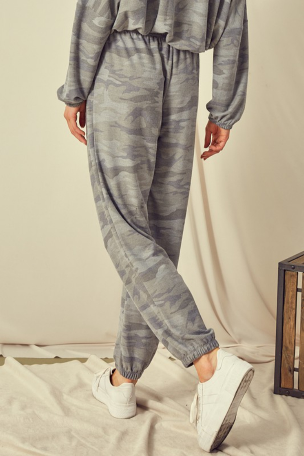 Mustard Seed  Camouflage Sweatpant Jogger - Side Cropped Image