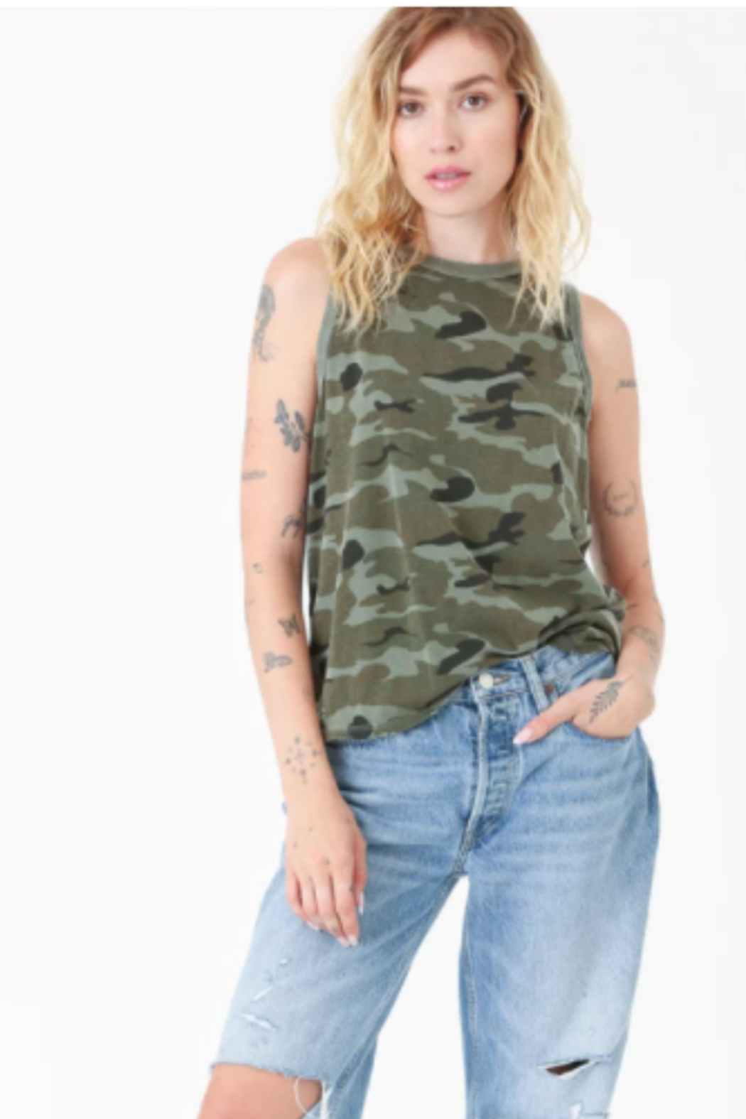 Electric & Rose Camouflage Tank - Main Image