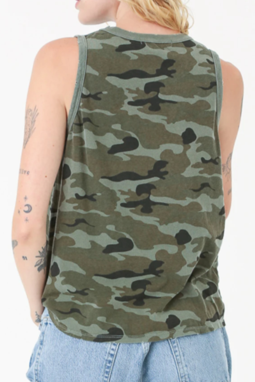 Electric & Rose Camouflage Tank - Side Cropped Image