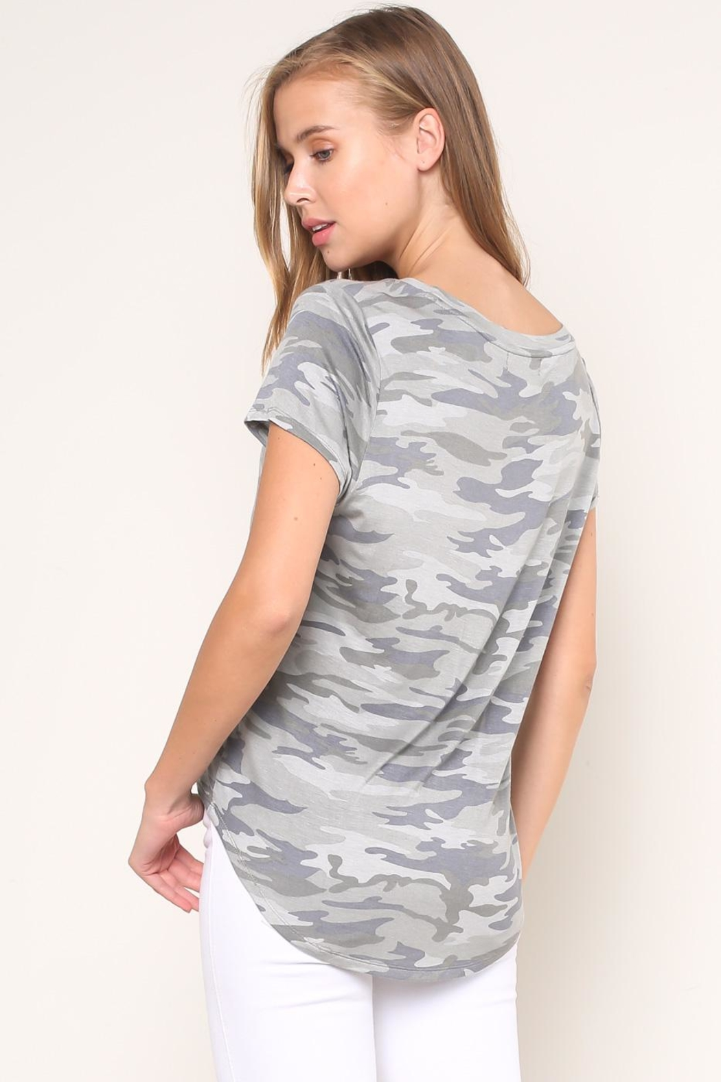 Mustard Seed Camouflage Tee - Back Cropped Image