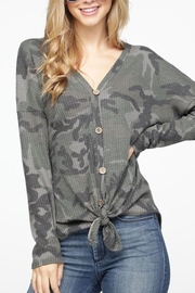 Gifted Camouflage Waffle Top - Product Mini Image