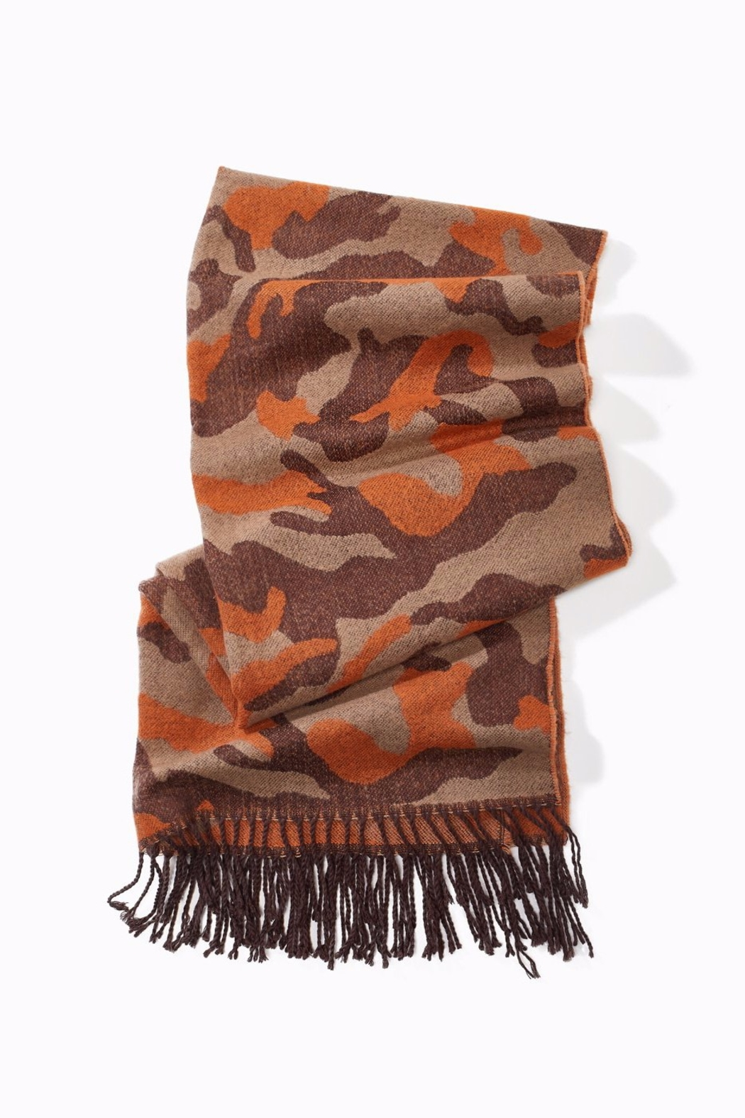 Look by M Camouuflage fringe Scarf - Main Image