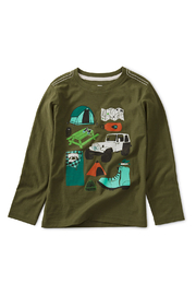 Tea Collection Camp Collage Graphic Tee - Front cropped