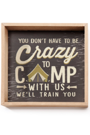 Giftcraft Inc.  Camper Sentiment Wall Sign - Product Mini Image