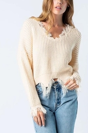 Wellmade Campfire Nights Sweater - Front cropped
