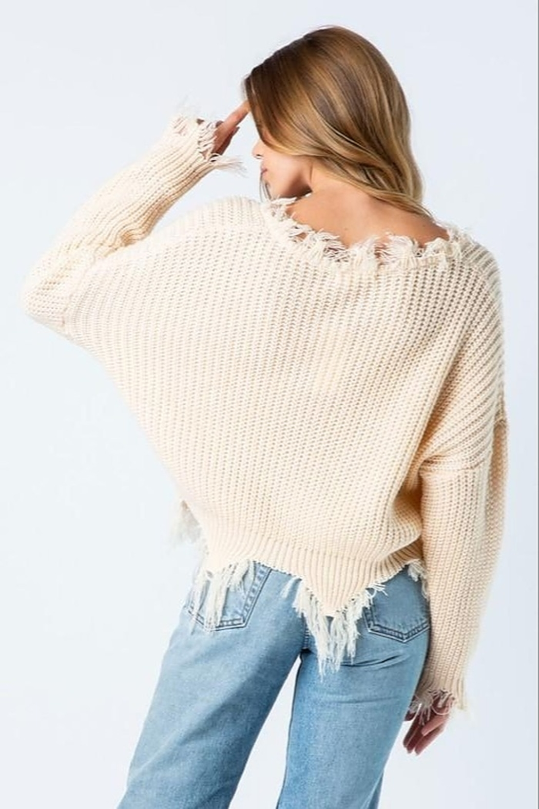 Wellmade Campfire Nights Sweater - Front Full Image
