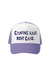 Grom Squad Camping Hair Don't Care Trucker Hat - Front cropped