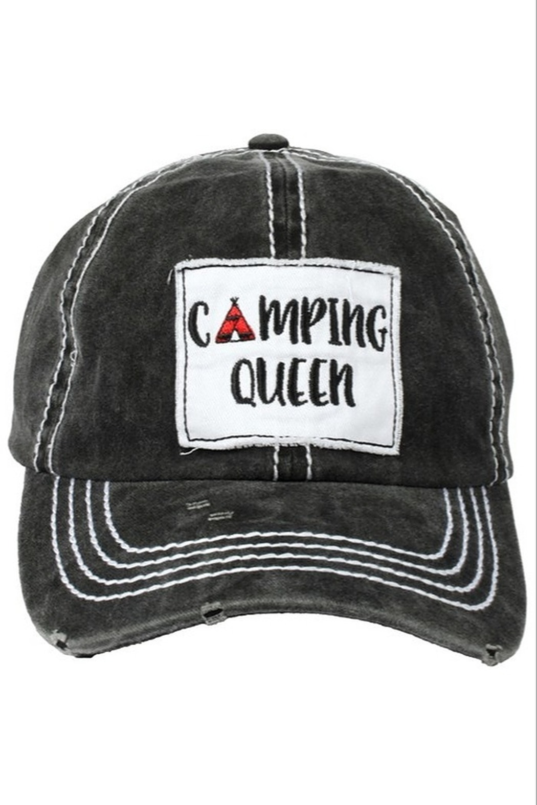 david and young Camping Queen Cap - Front Cropped Image