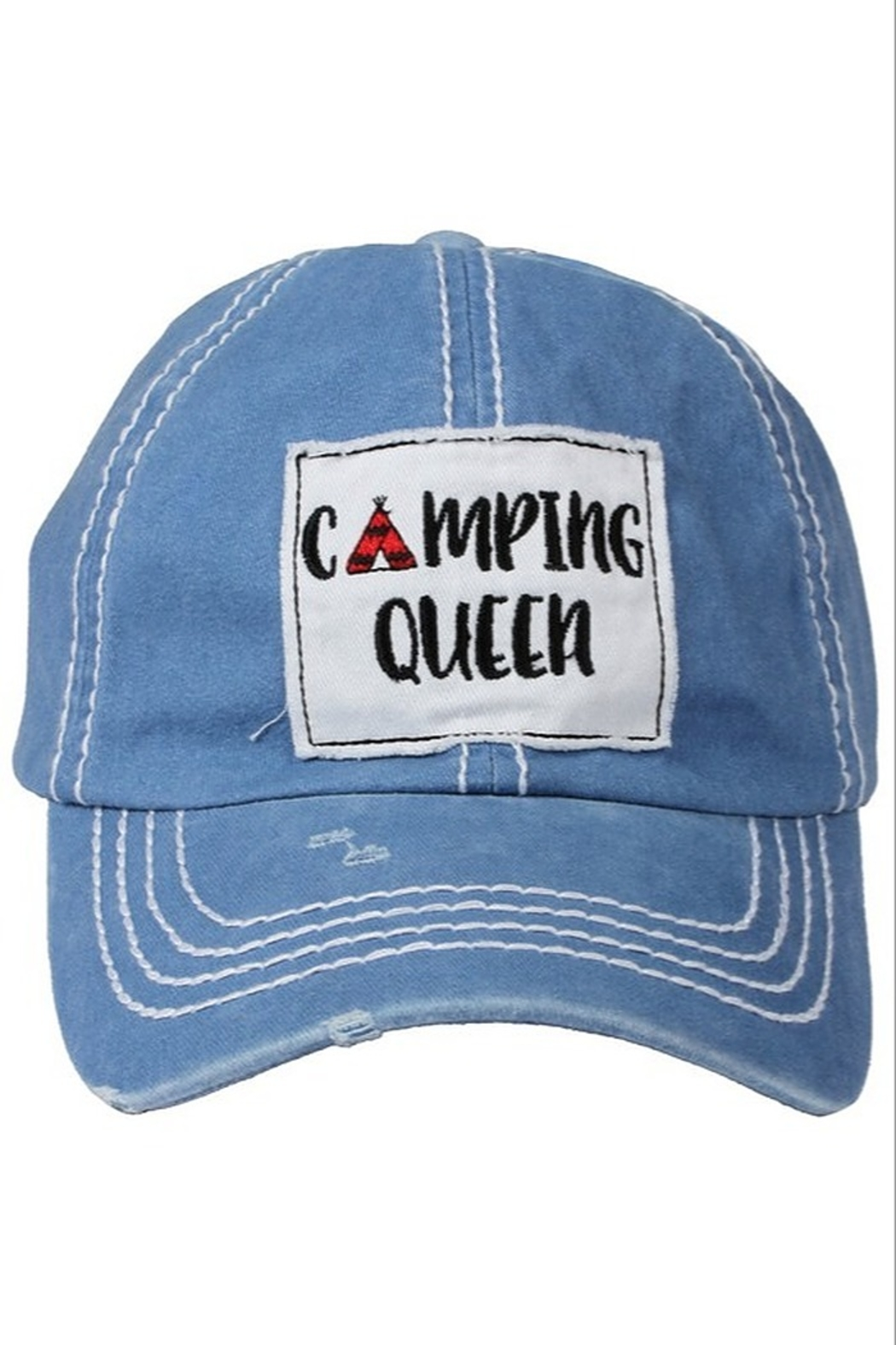 david and young Camping Queen Cap - Front Full Image