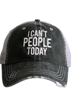 "Shoptiques Product: ""Can't People..."" Hat"
