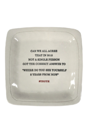 Honestly Goods Can We All Agree Porcelain Dish - Product Mini Image