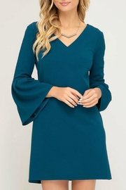She + Sky Candance Teal Dress - Product Mini Image