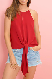 Buddy Love Candice Tie Front Top - Front full body