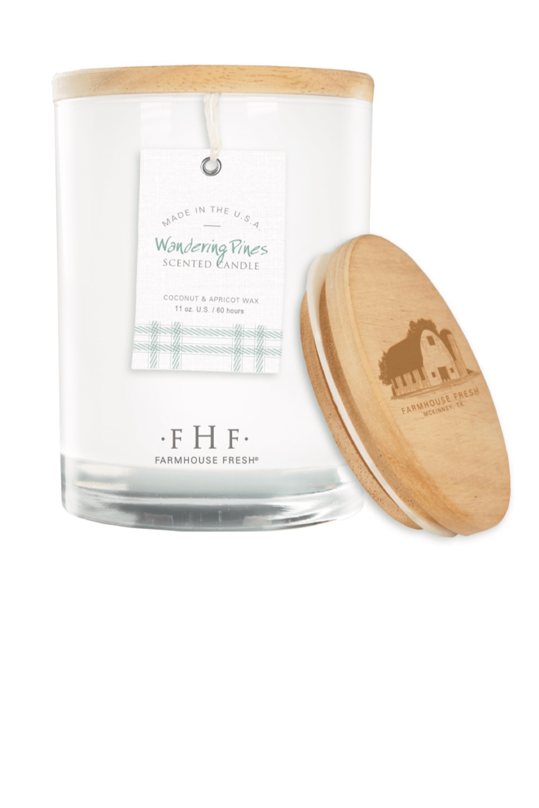 Farmhouse Fresh Candle with Wood Lid - Main Image