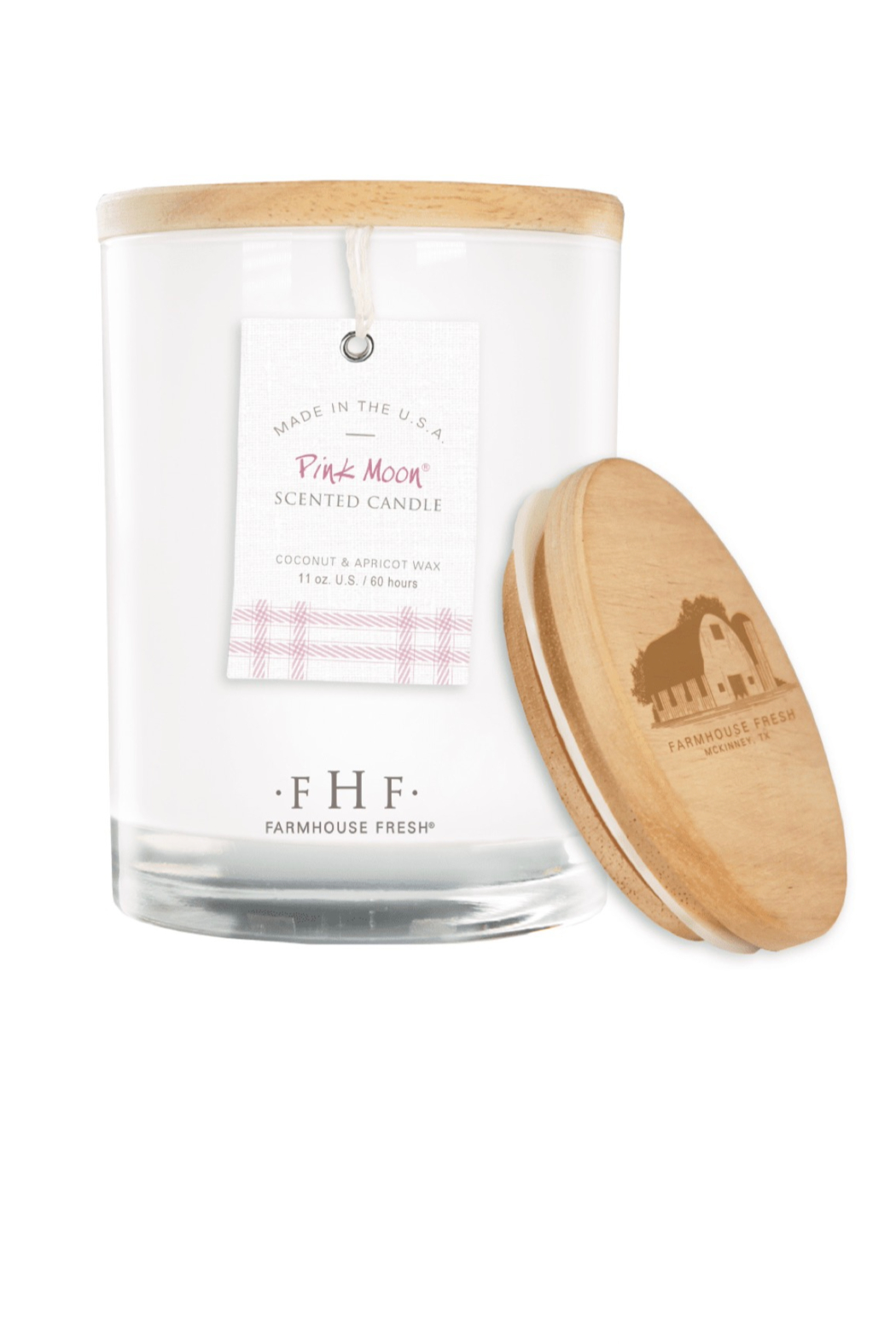 Farmhouse Fresh Candle with Wood Lid - Front Full Image
