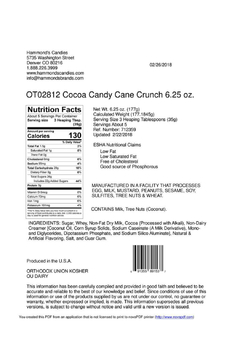 Hammond's Candies Candy Cane Crunch Cocoa - Alternate List Image