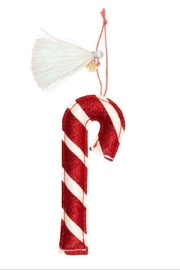 Meri Meri Candy Cane Glitter Fabric Tree Decoration - Product Mini Image