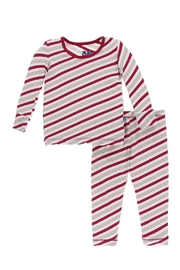Kickee Pants Candy Cane Pajamas - Product Mini Image