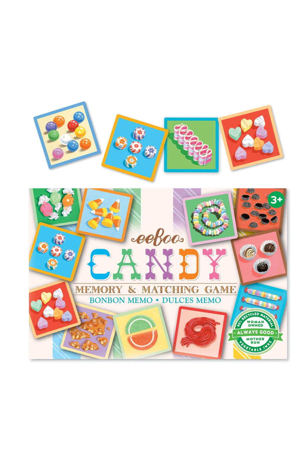 Eeboo Candy Memory & Matching Game - Front Full Image