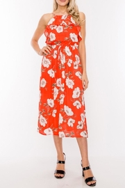 HYFVE Candy-Red Floral Midi - Product Mini Image