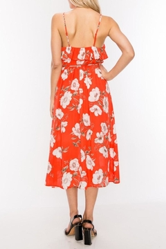 HYFVE Candy-Red Floral Midi - Alternate List Image