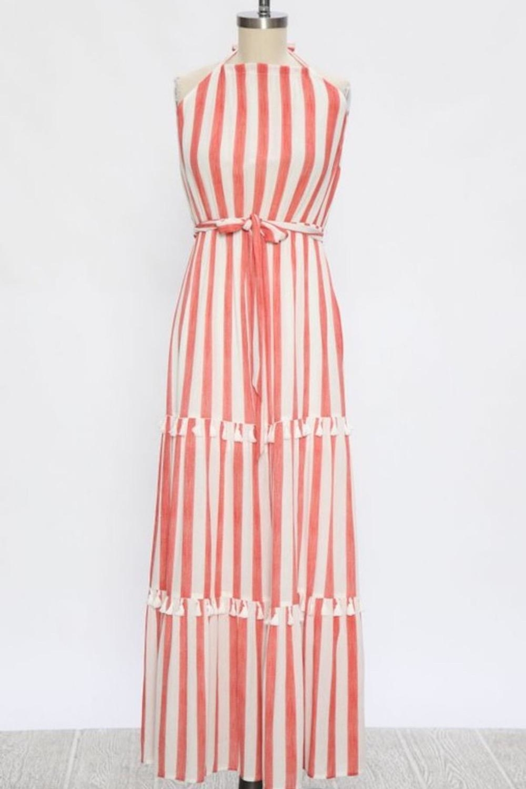 Flying Tomato Candy-Red Tassel Stripes - Back Cropped Image